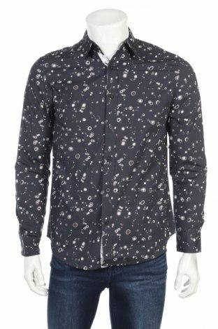Мъжка риза Desigual, Размер S, Цвят Сив, Памук, Цена 43,60лв.