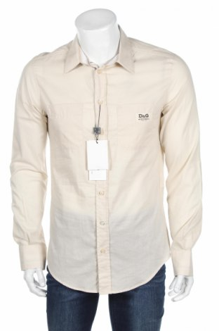 Pánska košeľa  Dolce & Gabbana, Veľkosť M, Farba Béžová, Bavlna, Cena  38,40€