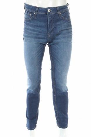 Мъжки дънки Jack & Jones, Размер M, Цвят Син, 97% памук, 3% еластан, Цена 38,15лв.
