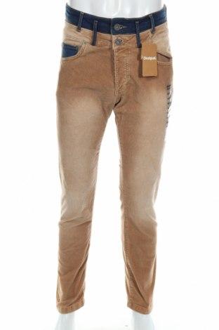 Мъжки джинси Desigual, Размер S, Цвят Бежов, 99% памук, 1% еластан, Цена 41,65лв.