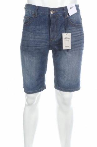 Pantaloni scurți de bărbați Denim&Co., Mărime M, Culoare Albastru, 60% bumbac, 40% poliester, Preț 53,05 Lei