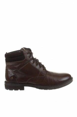 Ανδρικά παπούτσια Kaporal, Μέγεθος 42, Χρώμα Καφέ, Γνήσιο δέρμα, κλωστοϋφαντουργικά προϊόντα, Τιμή 64,33€