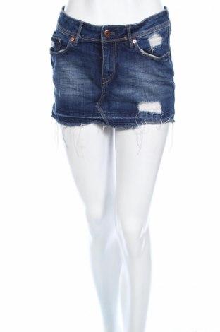 Φούστα H&M, Μέγεθος S, Χρώμα Μπλέ, 99% βαμβάκι, 1% ελαστάνη, Τιμή 3,71€