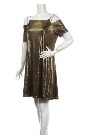 Φόρεμα Armani Exchange, Μέγεθος L, Χρώμα Χρυσαφί, 93% πολυεστέρας, 7% ελαστάνη, Τιμή 21,50€
