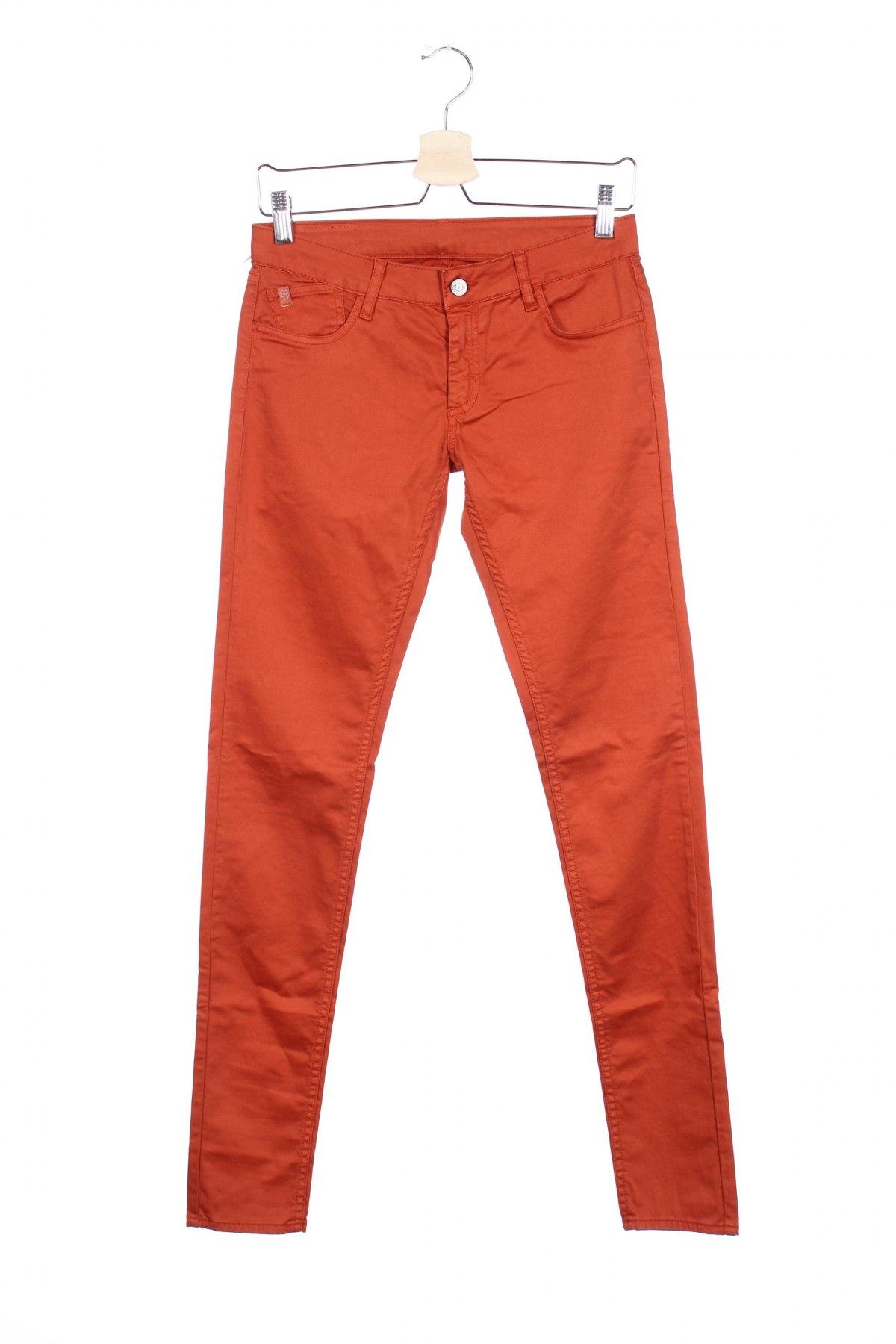 Дамски панталон Le Temps Des Cerises, Размер XS, Цвят Оранжев, 97% памук, 3% еластан, Цена 20,43лв.
