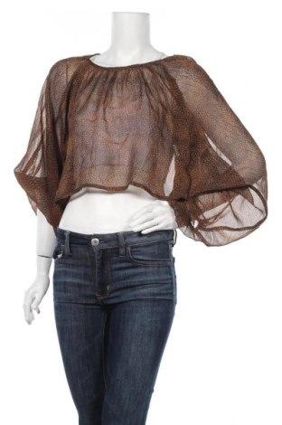 Γυναικεία μπλούζα Ax Paris, Μέγεθος M, Χρώμα Καφέ, Πολυεστέρας, Τιμή 4,16€