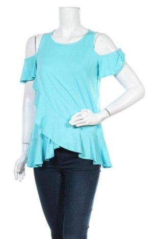 Γυναικεία μπλούζα Be You, Μέγεθος M, Χρώμα Μπλέ, 95% βισκόζη, 5% ελαστάνη, Τιμή 7,48€
