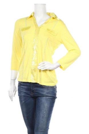 Γυναικεία μπλούζα Biba, Μέγεθος M, Χρώμα Κίτρινο, 92% βισκόζη, 8% ελαστάνη, Τιμή 4,09€