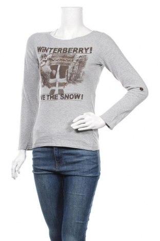 Дамска блуза Crazy World, Размер S, Цвят Сив, 90% памук, 10% вискоза, Цена 15,12лв.