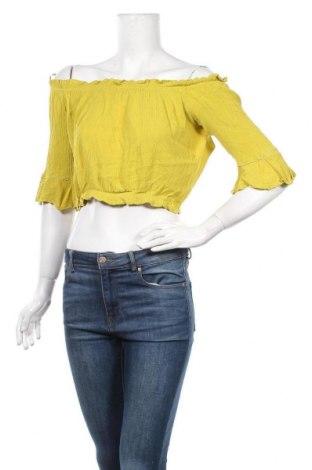 Γυναικεία μπλούζα Dilvin, Μέγεθος L, Χρώμα Κίτρινο, Βισκόζη, Τιμή 3,86€