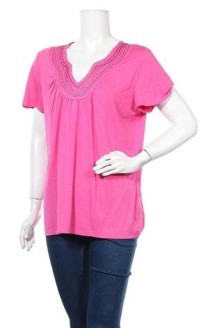 Дамска блуза G.W., Размер L, Цвят Розов, 92% вискоза, 8% еластан, Цена 8,93лв.