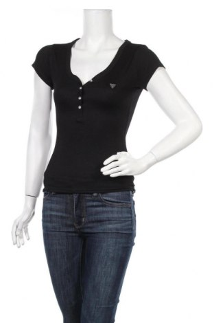 Дамска блуза Guess, Размер XS, Цвят Черен, 70% модал, 30% полиестер, Цена 51,35лв.