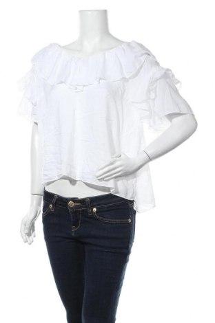 Дамска блуза H&M L.O.G.G., Размер XL, Цвят Бял, Модал, Цена 10,92лв.
