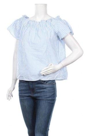 Дамска блуза H&M L.O.G.G., Размер M, Цвят Син, Памук, Цена 10,92лв.