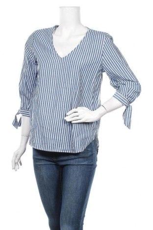 Дамска блуза H&M L.O.G.G., Размер L, Цвят Син, Памук, Цена 17,85лв.