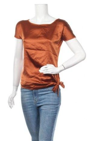 Γυναικεία μπλούζα Hallhuber, Μέγεθος S, Χρώμα Καφέ, 92% μετάξι, 8% ελαστάνη, Τιμή 25,40€