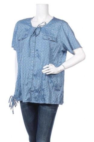Дамска блуза Malva, Размер XXL, Цвят Син, Полиестер, Цена 14,96лв.