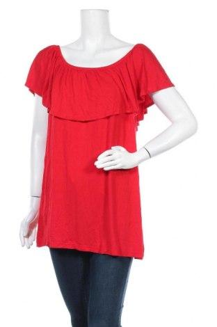 Дамска блуза Ms Mode, Размер XL, Цвят Червен, Вискоза, Цена 15,96лв.
