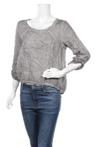 Дамска блуза Nile, Размер M, Цвят Сив, Рамия, Цена 39,27лв.