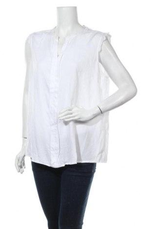 Дамска блуза Only Carmakoma, Размер XL, Цвят Бял, Вискоза, Цена 22,40лв.