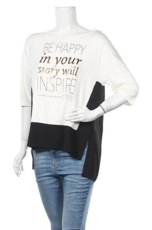 Дамска блуза Piazza Italia, Размер S, Цвят Бял, 96% вискоза, 4% еластан, Цена 4,99лв.
