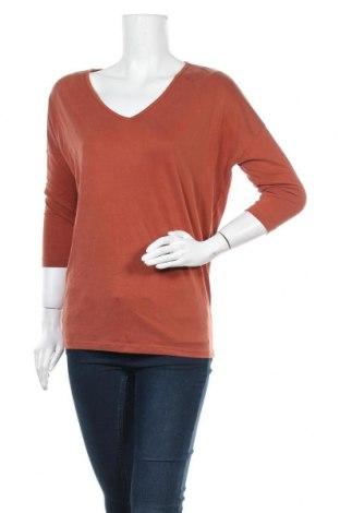Γυναικεία μπλούζα Pieces, Μέγεθος S, Χρώμα Πορτοκαλί, 70% μοντάλ, 30% πολυεστέρας, Τιμή 11,34€