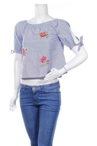 Дамска блуза Robin, Размер S, Цвят Син, Вискоза, Цена 12,60лв.