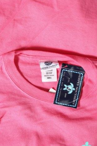 Дамска блуза Simply Southern, Размер S, Цвят Розов, Памук, Цена 36,75лв.