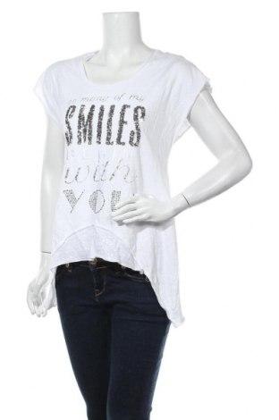 Дамска блуза Tredy, Размер M, Цвят Бял, Памук, вискоза, Цена 17,85лв.