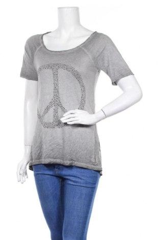 Дамска блуза True Religion, Размер S, Цвят Сив, 50% памук, 50% модал, Цена 9,45лв.