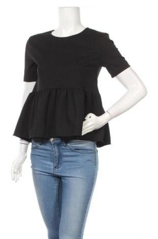 Дамска блуза Zara, Размер S, Цвят Черен, 96% полиестер, 4% еластан, Цена 23,10лв.