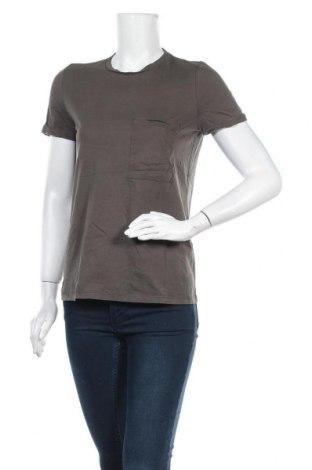 Дамска тениска Zara, Размер M, Цвят Зелен, Цена 9,56лв.