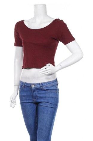 Дамска блуза Zebra, Размер L, Цвят Червен, 60% памук, 40% модал, Цена 5,67лв.