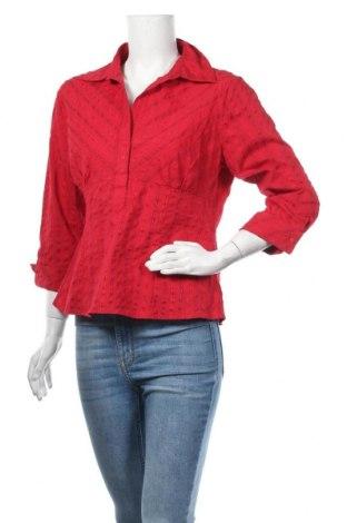 Дамска блуза Zero Base, Размер L, Цвят Червен, 68% памук, 29% полиестер, 3% еластан, Цена 12,50лв.