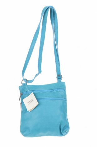 Дамска чанта, Цвят Син, Естествена кожа, Цена 35,28лв.