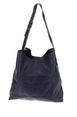 Γυναικεία τσάντα Massimo Dutti, Χρώμα Μπλέ, Γνήσιο δέρμα, Τιμή 73,07€