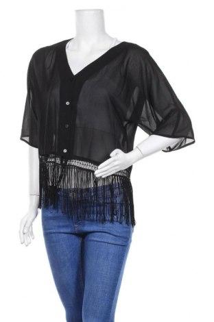 Дамска жилетка H&M Divided, Размер M, Цвят Черен, Полиестер, Цена 5,51лв.