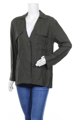 Дамска жилетка Zara, Размер M, Цвят Зелен, 70% вискоза, 30% рамия, Цена 6,68лв.