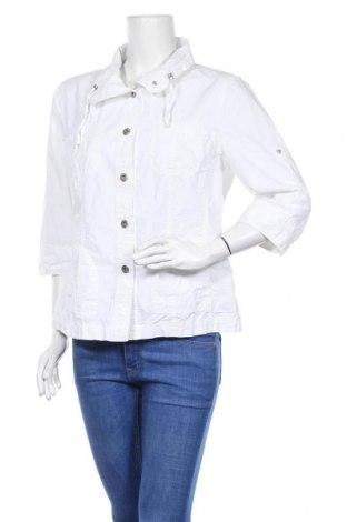 Дамско яке G.W., Размер L, Цвят Бял, 100% памук, Цена 37,00лв.