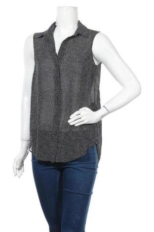 Дамска риза H&M, Размер S, Цвят Черен, Полиестер, Цена 4,46лв.