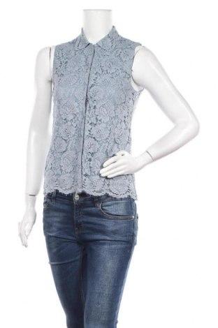 Дамска риза H&M, Размер S, Цвят Син, 64% памук, 22% полиамид, 14% вискоза, Цена 16,07лв.