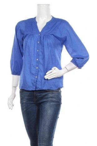 Дамска риза H&M, Размер S, Цвят Син, 100% памук, Цена 4,20лв.