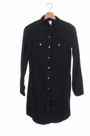 Дамска риза H&M, Размер XS, Цвят Черен, Памук, Цена 29,50лв.