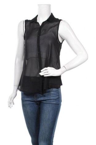 Дамска риза H&M, Размер S, Цвят Черен, Полиестер, Цена 4,20лв.