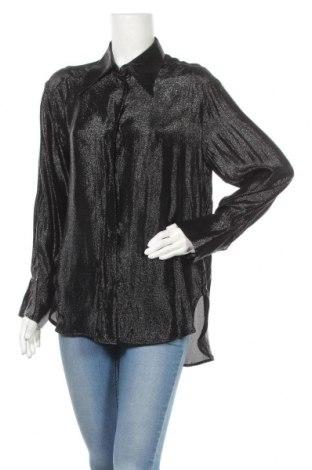 Дамска риза H&M, Размер S, Цвят Черен, 79% вискоза, 21% полиамид, Цена 14,50лв.