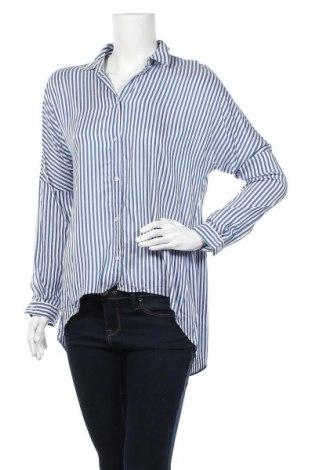 Γυναικείο πουκάμισο Hugo Boss, Μέγεθος S, Χρώμα Μπλέ, 82% βισκόζη, 18% μετάξι, Τιμή 62,35€