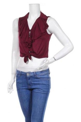 Дамска риза Iris, Размер M, Цвят Червен, 96% вискоза, 4% еластан, Цена 3,69лв.