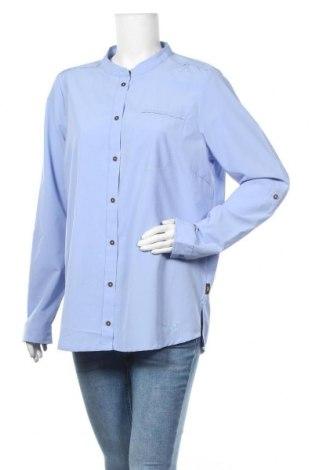 Дамска риза Jack Wolfskin, Размер M, Цвят Син, Полиестер, Цена 21,26лв.