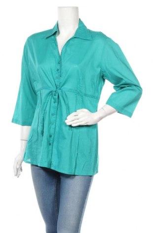 Γυναικείο πουκάμισο Joy, Μέγεθος S, Χρώμα Πράσινο, Βαμβάκι, Τιμή 3,64€