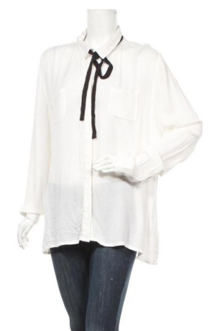 Γυναικείο πουκάμισο Manguun, Μέγεθος L, Χρώμα Λευκό, Βισκόζη, Τιμή 9,87€